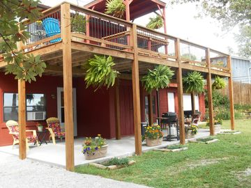 Eureka Springs cabin rental - Cool and breezy most of the time . . our patio and deck add to your outdoor fun.