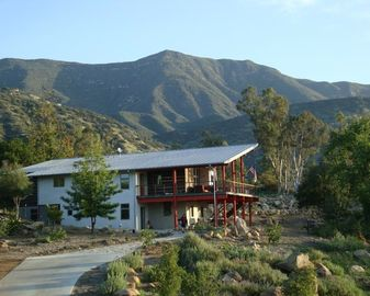 Ojai house rental - View looking North at Nordhoff peak