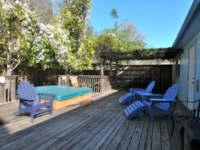 spacious back deck great for entertaining early Spring photo
