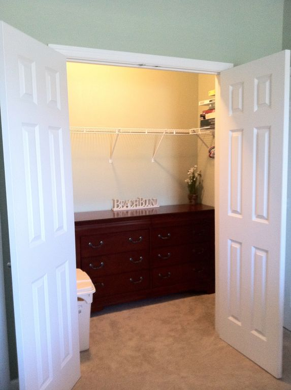 The large master closet and dresser