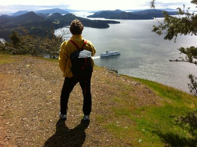 Hike to Mt Galiano, the highest point on the island. Garry Oaks and ferries.