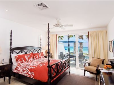 Villa Corinne 2nd Master Suite with access to terrace, pool and beach