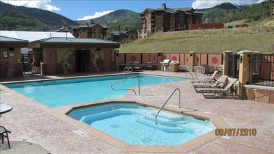 Outdoor Pool and Hot Tub exclusively for Sundial Guests
