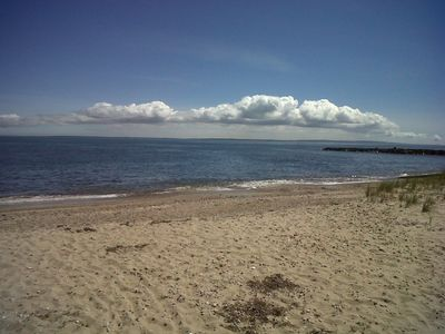 Private accociation beach with views of Martha Vineyard
