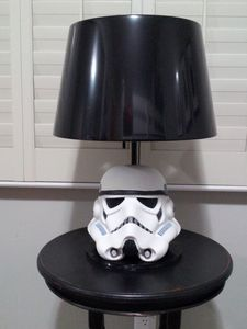 Storm Trooper Lamp in the Star Wars Room