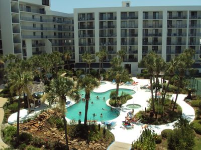 Relax in the outdoor pool during your stay at Gulf Shores Surf & Racquet Club!!!