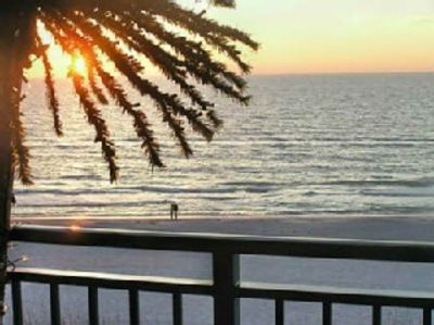 St Pete Beach condo rental - View from the balcony at sunset