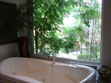 Jacuzzi Tub with a view into your private garden
