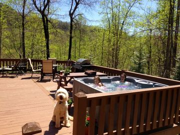 New Hot Tub added in 2013. Enjoy and take in the mountain views while relaxing.
