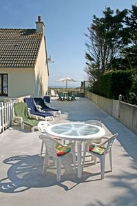 Sainte-Marie-du-Mont house rental - huge sun terrace