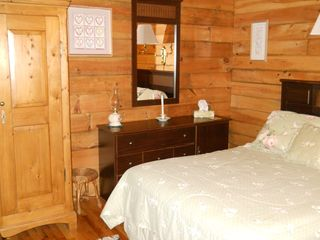 Green Lake cabin photo - Master bedroom on main floor (double bed)