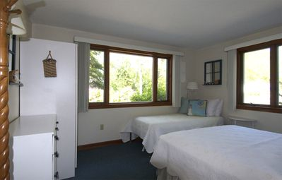 Downstairs #1 bedroom has a twin bed and queen bed,