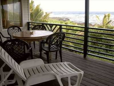 Kapoho house rental - Relax on the lanai with a spectacular ocean view!