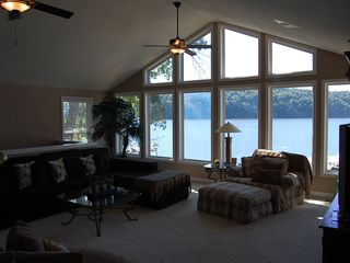 Sunrise Beach house photo - Enjoy the View, very comfortable living room, Flat Screen TV