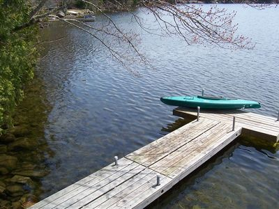 dock with clear swimming area