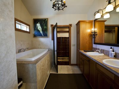 Luxurious master bath.