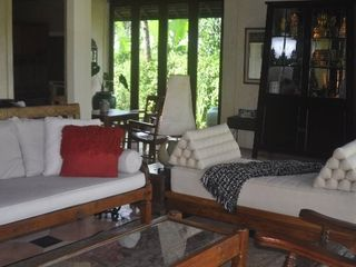 Ubud villa photo - The Living Room has a light feeling and is perfect for family gatherings