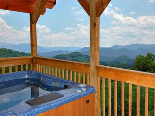 Pigeon Forge cabin photo - hot tub on upper deck-best view
