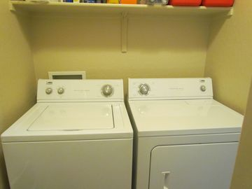 Washer and Dryer located in the pantry.