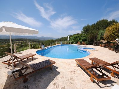 Santa Gertrudis villa rental - Cool Pool Area with Shaded BBQ
