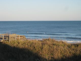 Carolina Beach condo photo - Surfers in December