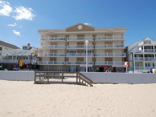 Oceans Mist Ocean City condo photo - View of Building from the Beach