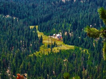Camp Nelson cabin rental - Annie's Piggly Pines from Needle Rock Ridge