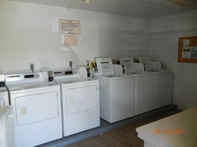 Laundry room bring lots of quarters. I supply starter alundry detergent