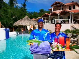 Cap Estate villa photo - Beau Rivage Staff - Dwayne and Cecilia