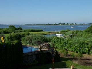 East Moriches house photo - View from the deck over Moriches bay