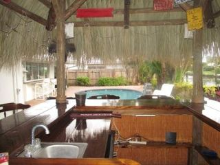 Fort Lauderdale house photo - View from inside the tiki bar looking at the pool