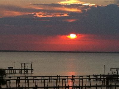 Pensacola Beach condo rental - View of the sunset from the condo's private balcony