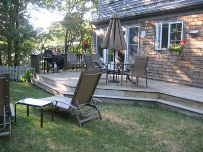 Chatham house rental - Back Yard - Deck