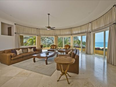 Super-sized, 900 square foot Living Room on the main level with panoramic views