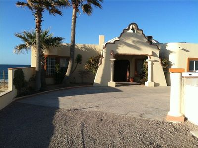 Front entrance of Fablous Beach Front Custom Home