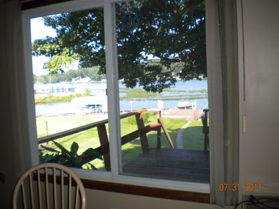 View of lake out diningroom window