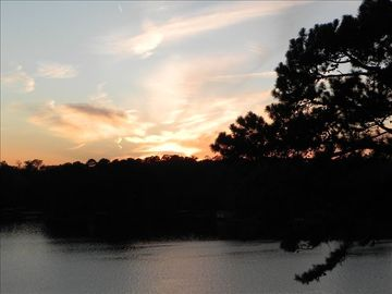 Hot Springs condo rental - Amazing evening sunsets from the large patio