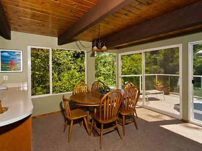 Bellingham chalet rental - Dining room with view.