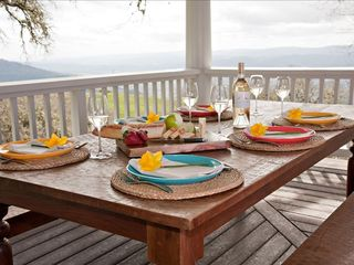 Cloverdale estate photo - Provincial outdoor dining with stunning views