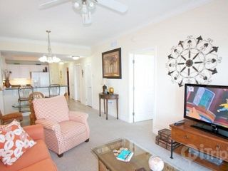 "Gulf Shores condo photo - Living area with a 42"" flat screen TV and DVD/VCR"