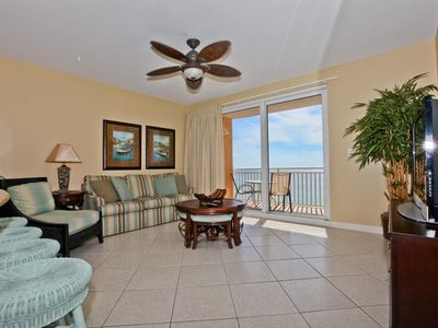 Splash Resort condo rental - ~Large Living Room w/ Walk Out Patio~