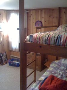 Bedroom with bunk beds.