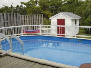 Bethany Beach house photo - Back deck with private pool and hot tub