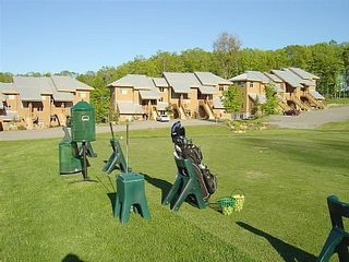 Bellaire / Shanty Creek condo photo - Driving range with Slopeside condos behind