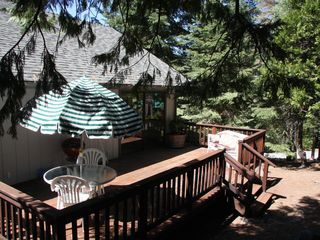 Lake Almanor house photo - A wonderful place to have your meals, coffee in the am or wine in the afternoon.