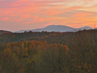 Banner Elk house photo - View from the deck in the fall at sunrise