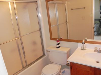 South Padre Island townhome rental - Bedroom 2 private bathroom