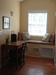 Dormer off of living area...great to set up your laptop...wifi available