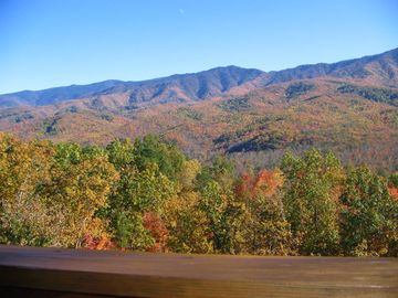 Fall Foliage in The Smokies, from the deck of this luxury cabin