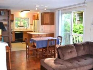 Spacious kitchen and dining area make plenty of room for dinner company.